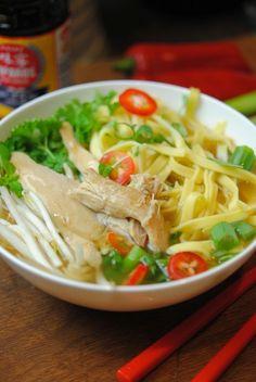 Pho ga recipe - Vietnamese Chicken Noodles