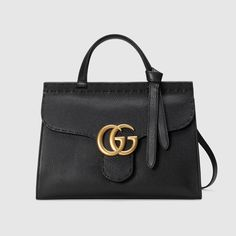Gucci   GG Marmont small top handle bag   black leather   $2,500.00