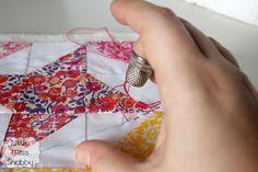 Big Stitch Quilting + HST Pillow Top Tutorial   Sew Mama Sew  