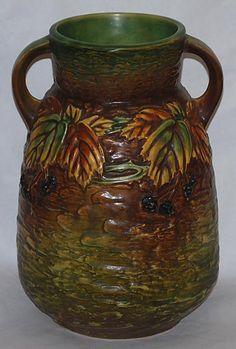 Roseville Pottery Blackberry Vase -1932