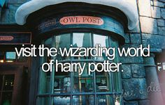 someone needs to take me to disney world... I want my butter beer. oh, & a wand.