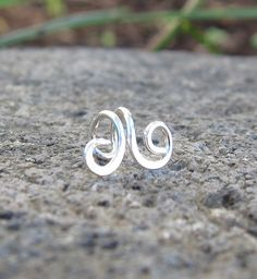Sterling Silver Small Swirl Tragus Ear Cuff by SimplicityCharms