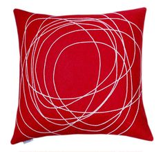 Nimboo - Red/Cream Cushion - Bholu