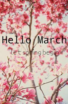 ~ Lets spring begin ~hello March