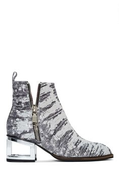Jeffrey Campbell Boone Bootie - Silver Snake | Shop Shoes at Nasty Gal