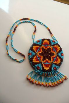 Native American Indian Regalia Rosette hand made-seed bead necklace jewelry Native American Beadwork, Native American Fashion, Native American Indians, Seed Bead Necklace, Beaded Earrings, Seed Beads, Aboriginal Dot Painting, Inuit People, Beading Ideas