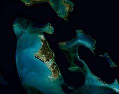 #Bahamas, como se ve desde un sensor de la NASA. Un paisaje incluso desde el espacio!!
