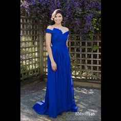 We can't get enough of these off-the-shoulder dresses! And in royal blue, they are just stunning! #franssical #gown #wedding #love #engaged #engagement #sparkle #theone #details #2015bridalcollection #franssical2015collection #perfectwedding #bigday #gorgeousdesign #bridesmaid #bridesmaiddress #royalblue