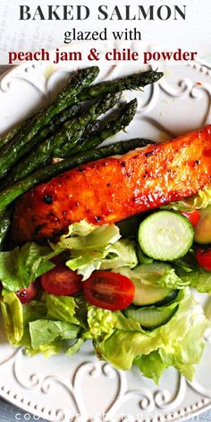 Healthy Fillets are baked and basted with a simple sweet and spicy glaze. A quick salmon recipe using brown sugar that has become our favorite easy weeknight dinner recipe. Easy Salmon Recipes Oven, Grilled Salmon Recipes, Healthy Salmon Recipes, Seafood Recipes, Delicious Recipes, Healthy Dinners, Amazing Recipes, Weeknight Meals, Keto Recipes