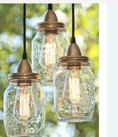 Så sød en ide - gamle syltetøjsglas (eller andre) laves til lamper :-)