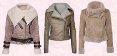 Cream Beige Fur Trim Flying Jacket