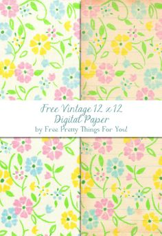 Free Vintage Sheet Digital Scrap booking Paper