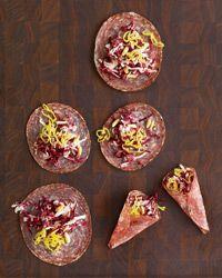 Soppressata Bundles with Radicchio and Goat Cheese Recipe from Food & Wine