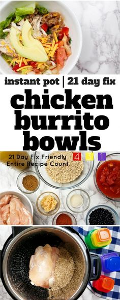 This 21 Day Fix Burrito Bowl recipe is prefect for meal prep day! Cook this Inst… This 21 Day Fix Burrito Bowl recipe is prefect for meal prep day! Cook this Instant Pot Burrito Bowl recipe once and eat all week long! Best Instant Pot Recipe, Instant Pot Dinner Recipes, Delicious Dinner Recipes, Paleo Dinner, Gluten Free Recipes Instant Pot, Cook Dinner, Yummy Food, Tasty, 21 Day Fix