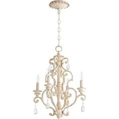 Found it at Wayfair - San Miguel 4 Light Candle-Style Chandelier French Country Chandelier, White Chandelier, Chandelier Ceiling Lights, Candle Chandelier, Chandelier Redo, Transitional Chandeliers, Transitional Wall Sconces, Elegant Chandeliers, Island Pendants