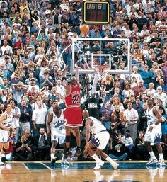 <p>Michael Jordan's game-winning buzzer beater is possibly the most memorable shot of his storied career. Jordan retired six months later, but returned to the NBA in 2001 with the Washington Wizards.</p>