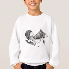 Christmas Santa and Paint Horse Sweatshirt - drawing sketch design graphic draw personalize