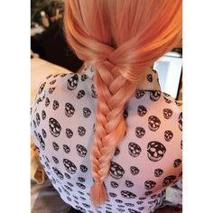 my sister braided my hair! .. oh yeah my hair is... ❤ liked on Polyvore