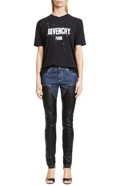 Givenchy Destroyed Cotton Tee available at #Nordstrom