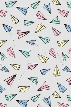 Paper Planes in Pastel Art Print by Tangerine-Tane - X-Small   Hipster phone wallpaper, Chat wallpaper whatsapp, Iphone wallpaper