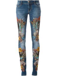 PHILIPP PLEIN 'Blooming' Jeans. #philippplein #cloth #jeans