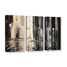 ArtWall Milen Tod 'Mono' 3 Piece Gallery-wrapped Canvas Set