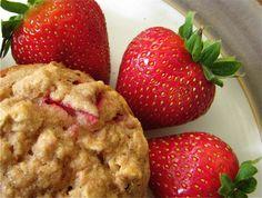 Yummy, healthy strawberry muffins