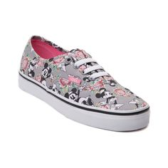 Flourish in floral with the new Authentic Minnie Mouse Skate Shoe from Disney and Vans! These Vans Authentic Minnie Mouse Skate kicks rock a cross-stitched floral themed upper with iconic Minnie Mouse prints, and breathable lining for premium comfort and style. <b>Only available at Journeys and SHI by Journeys!</b>  <br><br><u>Features include</u>:<br> > Durable canvas uppers<br> > Front lace closure offers a secure fit<br> > Padded footbed provides cushion and support<br> > Vulcanized…