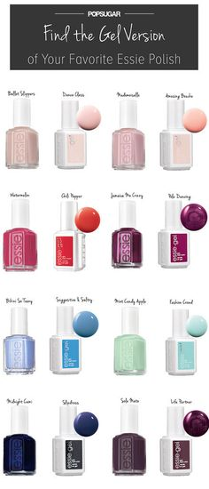 Pin this for your next nail salon visit! Here's how to find the gel version of your favorite essie nail polish.