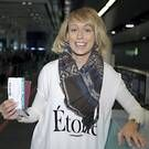 Tickets at the ready, Republic of Ireland Ladies Soccer Star, Stephanie Roche pictured at Dublin Airport as she left for Fifa's Puskas Award in Zurich.