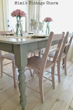 Antoinette Dining Room Chairs French Linen Table
