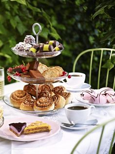 Afternoon tea. Cakes, pastries and other delights.