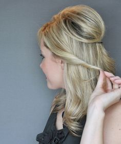 Step 3 | How to Do a Half-Up Twist Hairstyle | Real Simple