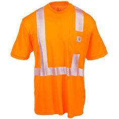 25f776545c97 Carhartt Force Shirts  Men s Force Orange 100495 824 Hi Vis Short Sleeve  Work Shirt