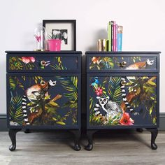 Upcycled Furniture Diy Dresser Home Decor Ideas Hand Painted Furniture, Upcycled Furniture, Furniture Projects, Vintage Furniture, Furniture Design, Painting Furniture, Diy Painting, Black Furniture, Cheap Furniture