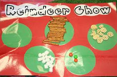 Mrs. Lee's Kindergarten: More Christmas Fun! Goldfish (not pictured), pretzels, marshmallows, m, chex/honeycomb cereal.