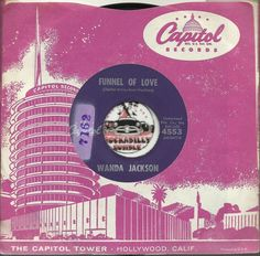 WANDA JACKSON Funnel Of Love ROCKABILLY POPCORN BOPPER 45 RPM RECORD VG++ JOIN ME ON FACEBOOK:  https://www.facebook.com/#!/groups/173196599474213/