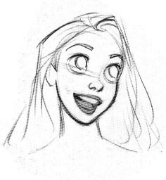 Living Lines Library: Tangled – Character: Rapunzel – character design Drawing Cartoon Faces, Cartoon Sketches, Disney Sketches, Art Drawings Sketches, Disney Drawings, Drawing Designs, Disney Character Sketches, Drawing Drawing, Sketch Art