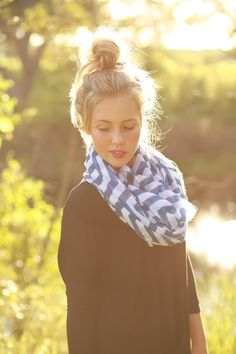 Blue Infinity Scarf from The Charming Arrow Boutique