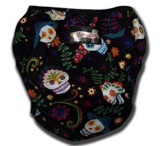 Diaper cover Rockabilly Baby Sugar skulls