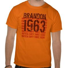 1963 Vintage Year 50th Birthday T-shirts from Zazzle.com