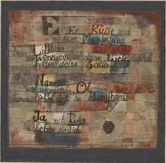 Paul Klee, (From the Song of Songs) Version II, 1921. Ink and watercolor on paper, with watercolor on cardboard mount, sheet: 6 7/16 x 6 7/8 inches (16.2 x 17.4 cm); mount: 10 13/16 x 10 13/16 inches (27.4 x 27.4 cm)