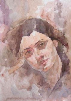 Olga watercolor sketch #watercolor #art #portraits #portrait #portraitofyounggirl #picture #portraitofgirl #watercolorpainting #watercolorportrait