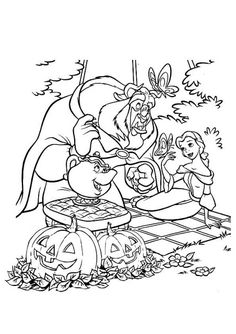 Disney Halloween Coloring Pages For Your Little Ones