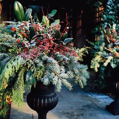 Christmas Urn Container