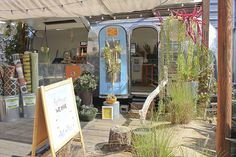 A mod garden shop inside an Airstream called Organic Designs by Aggelige