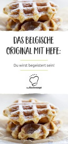 Belgian waffles with yeast- Belgische Waffeln mit Hefe Thick Belgian waffles made of yeast dough – they taste really, really good! It is also worth waiting a bit for the yeast dough to rise. Try the recipe right away, you will be amazed! Chewy Sugar Cookie Recipe, Soft Sugar Cookies, Easy Cookie Recipes, Chocolate Chip Cookies, Baking Recipes, Cake Recipes, No Bake Desserts, Healthy Desserts, Desserts Sains