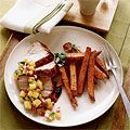Get some Hawaiian flavor with some #pineapple #bbq #salsa, served over succulent #pork. #recipes #lowcalorie #dinner