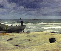"fravery: "" John French Sloan (American1871-1951) Gray Day, Jersey Coast 1911 """