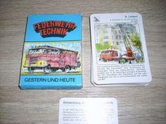 Feuerwehr Technik Gestern u Heute Quartett unbenutzt Karten Altenburg DDR ab 1 E